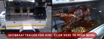 Spitbraai Trailer for Hire